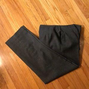 Talbots 10 Gray Pants Wool Lined Italian Fabric